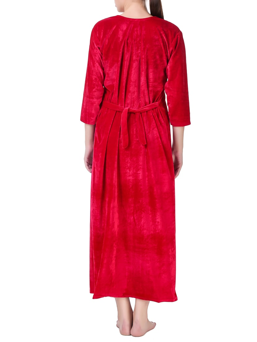 Buy Pink Velvet Gown by Masha - Online shopping for Gowns & Kimonos ...