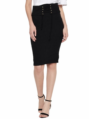 solid black pencil skirt -  online shopping for Skirts