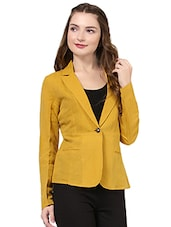 yellow linen casual blazer -  online shopping for Blazers