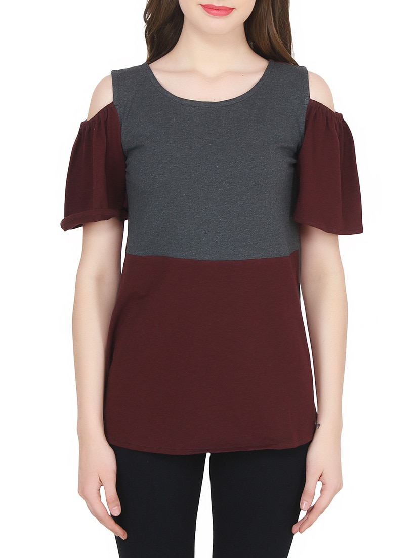 4b0d1182c535 Buy Color Block Cotton Top for Women from Pastel Palm for ₹338 at 66% off