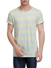 light blue cotton t-shirt -  online shopping for T-Shirts