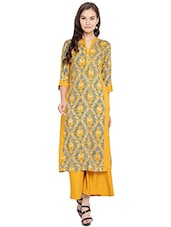 mustard rayon straight kurta -  online shopping for kurtas