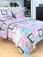 Printed Polycotton Double Bed Sheet With 2 Pillow Covers -  online shopping for bed sheet sets