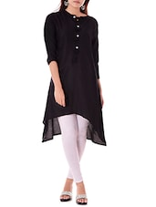 black rayon highlow kurta -  online shopping for kurtas