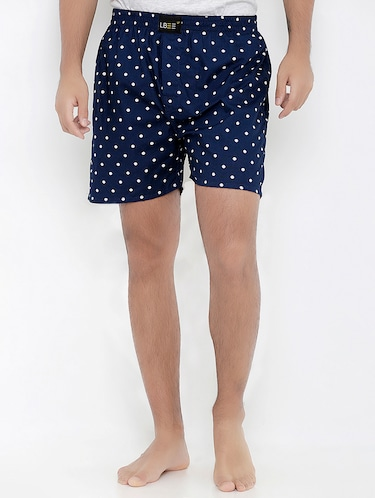 navy blue cotton boxer - 14379027 - Standard Image - 1
