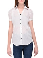 white cotton casual shirt -  online shopping for Shirts