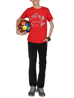 red cotton tshirt - 14387461 - Standard Image - 4