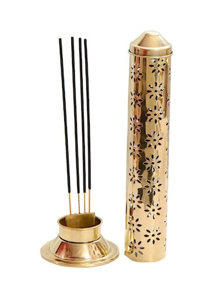 Decorate India Brass Agarbatti  stand Incense Holder  26 x 7.6 x 5.2 cm -  online shopping for Incense & Holders