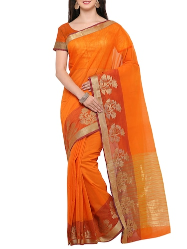 63e8ce06df63a Buy Peacock Embroidered Paper Silk Saree With Blouse for Women from Zurich  for ₹1037 at 59% off