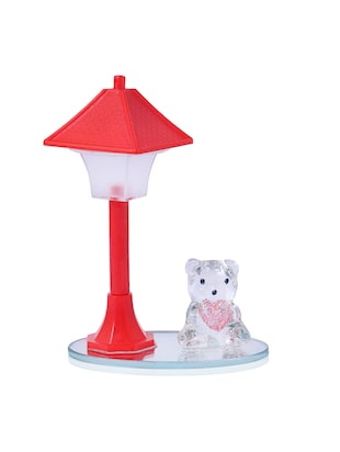 Lampshades buy lampshades online at best prices in india beautiful crystal decoration piece with teddy bear under red led light lampshade online shopping for mozeypictures Choice Image