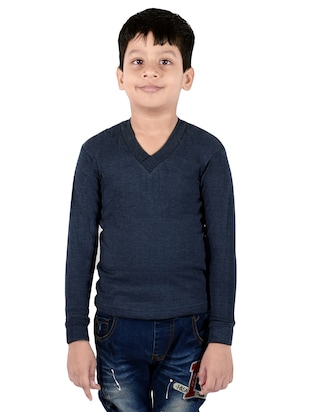 blue cotton thermal - 14412107 - Standard Image - 4