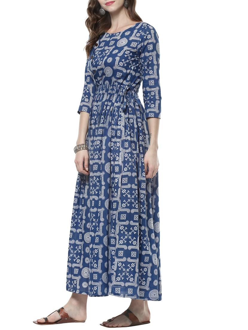 cd382d16732 Buy Indigo Fusion Kurta for Women from Indian Virasat for ₹898 at 42% off