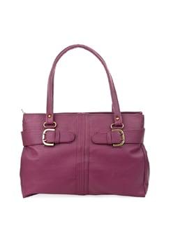 Chic Purple Bag With Antique Trims - ALESSIA
