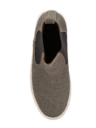 grey Canvas slip on sneaker - 14418074 - Standard Image - 4