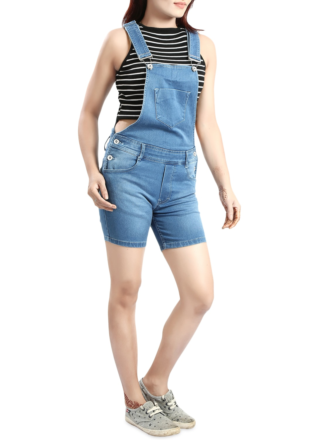86c74433af55 Buy Light Blue Denim Dungree by Fck-3 - Online shopping for Jumpsuits in  India