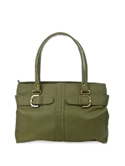 Chic Olive Bag With Antique Trims - ALESSIA