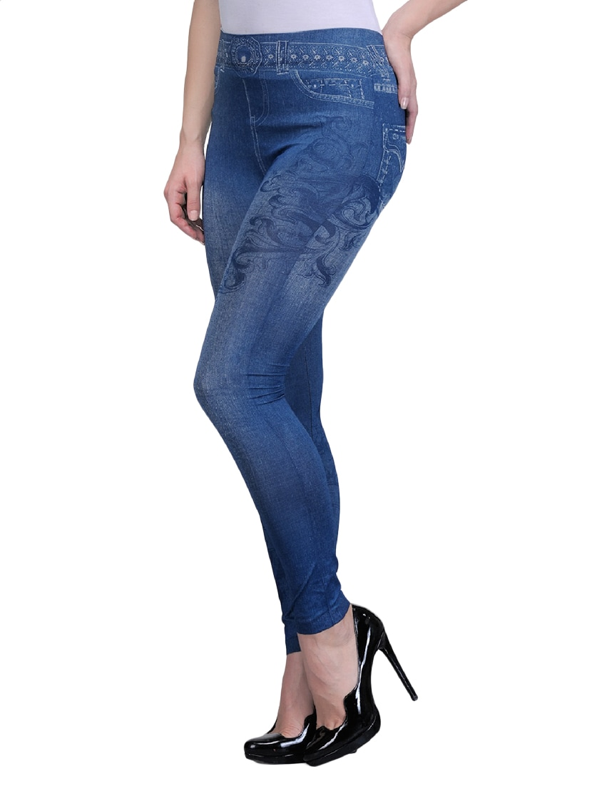 9f5308fbd8614 Buy Set Of 2 Multi Colored Jegging for Women from Oleva for ₹687 at 47% off  | 2019 Limeroad.com