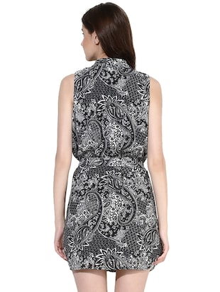 black printed shirt dress - 14422068 - Standard Image - 4