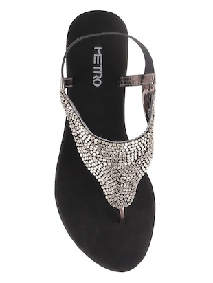 grey tpr back strap sandals - 14422465 - Standard Image - 4