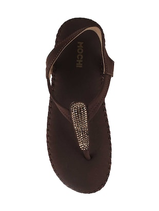 brown pu back strap sandals - 14422483 - Standard Image - 4