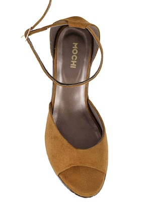 tan ankle strap wedge - 14422998 - Standard Image - 4