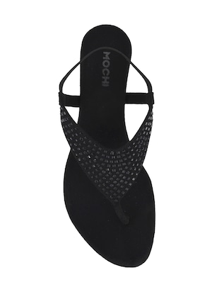 black sheet back strap wedges - 14423201 - Standard Image - 4