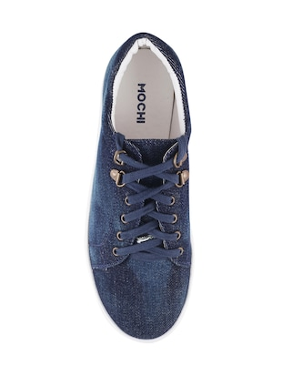 blue  lace-up sneaker - 14423298 - Standard Image - 4