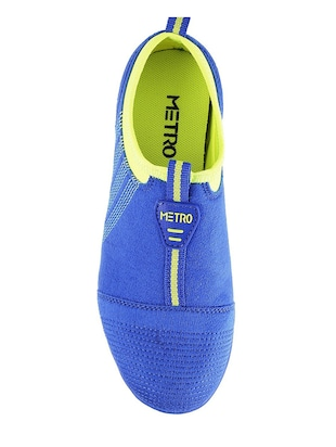 blue slip on casual shoe - 14423941 - Standard Image - 4