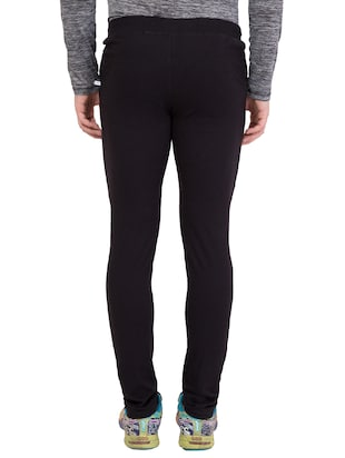 black cotton track pant - 14424788 - Standard Image - 4