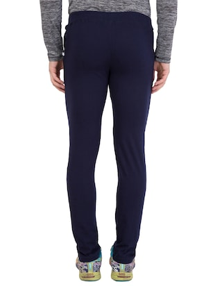 navy blue cotton track pant - 14424798 - Standard Image - 4