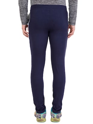 navy blue cotton track pant - 14424807 - Standard Image - 4