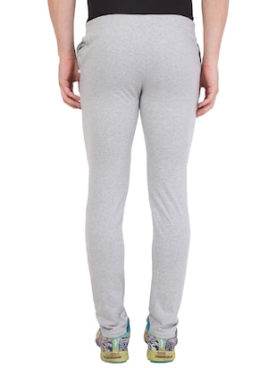 grey cotton track pant - 14424821 - Standard Image - 4