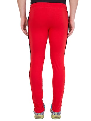 red cotton track pant - 14424842 - Standard Image - 4