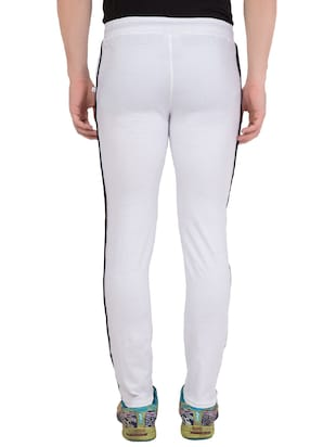 white cotton track pant - 14424851 - Standard Image - 4