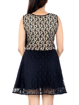 black net aline dress - 14425074 - Standard Image - 4