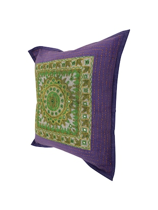Cotton Single Rajasthani Traditional Cushion Cover By Rajrang - 14425251 - Standard Image - 4