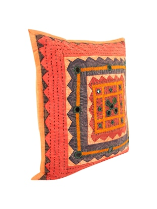 Cotton Single Rajasthani Traditional Cushion Cover By Rajrang - 14425277 - Standard Image - 4