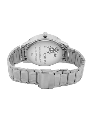 Crude combo of 2 Stainless Steel men's watch-rg741 with white & Black Dial - 14427054 - Standard Image - 4