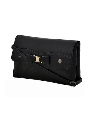 black leatherette sling bag - 14432479 - Standard Image - 4