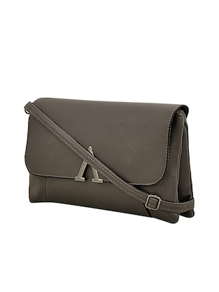 grey leatherette sling bag - 14432494 - Standard Image - 4