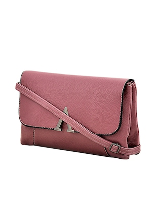 purple leatherette sling bag - 14432495 - Standard Image - 4