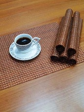 Brown PVC Dining Mats Set of 6 -  online shopping for Placemats