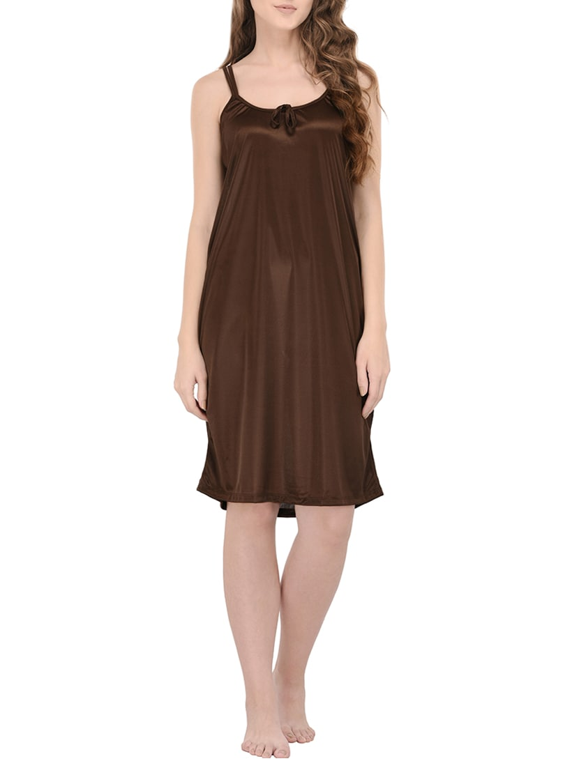 d1a97d5d3a Buy Brown Satin Sleepwear Robe by You Forever - Online shopping for ...