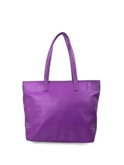 Purple Faux Leather Tote - ALESSIA