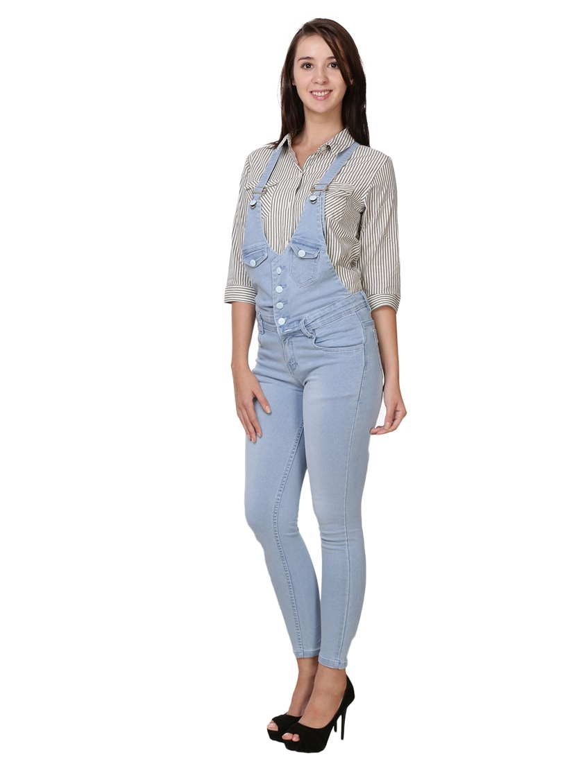 fca6c852f60 Buy Light Blue Denim Dungaree Jumpsuit for Women from Broadstar for ₹1322 at  47% off