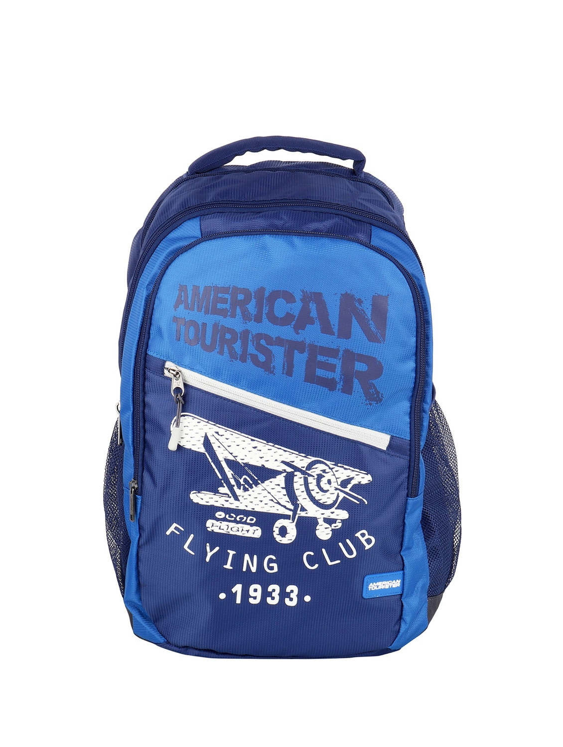 Buy Blue Polyester Backpack by American Tourister Backpack - Online  shopping for Backpacks in India  25a8958c5f20d