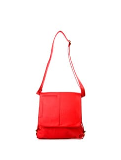Red Messenger Bag - ALESSIA