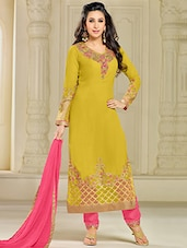 Green georgette dress material -  online shopping for Unstitched Suits