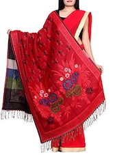 red wool shawl -  online shopping for shawls
