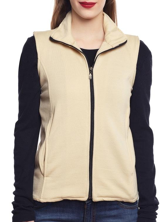 belle fille beige fleece jacket